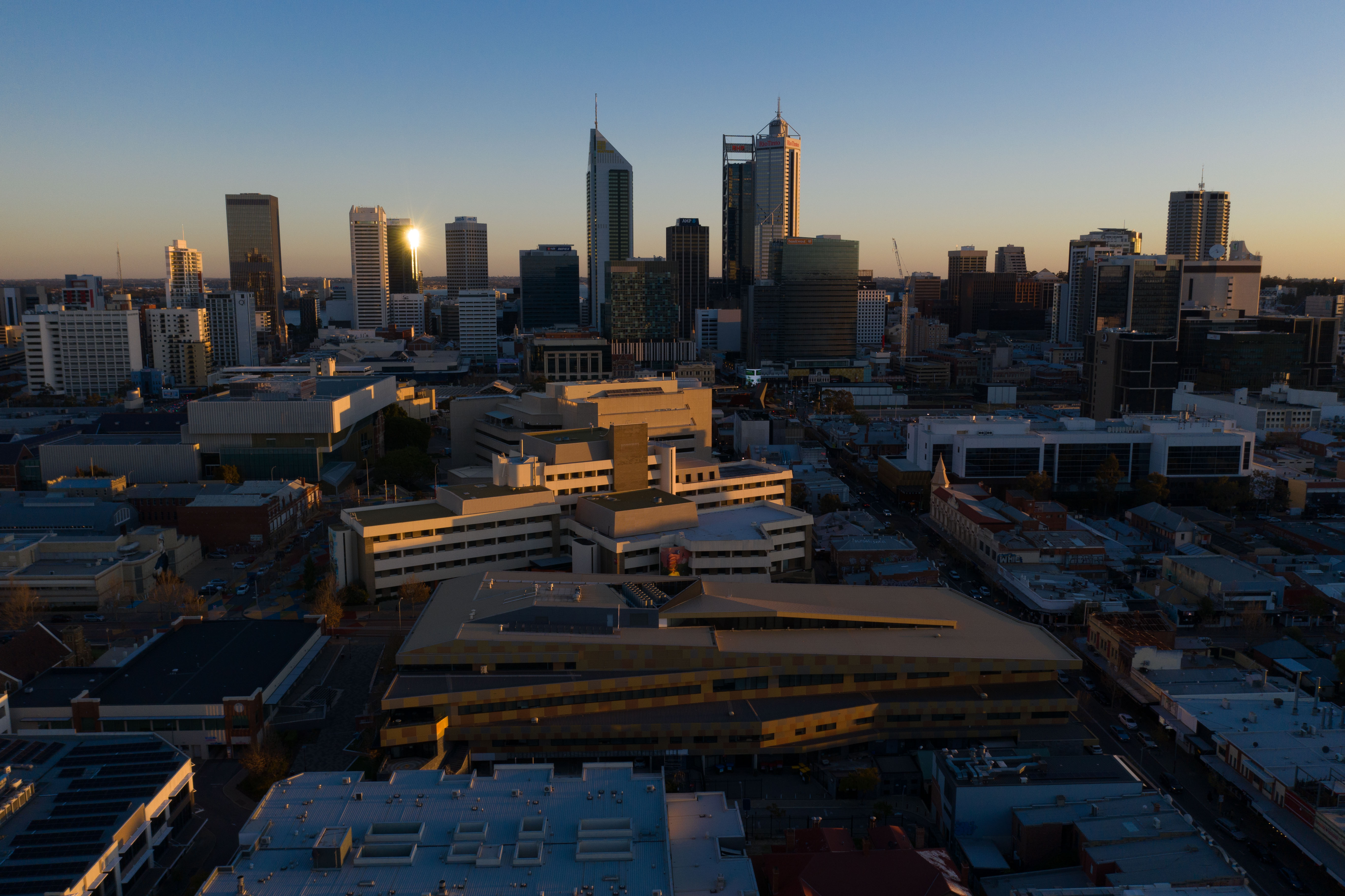Drone Image Perth Commercial Property Photography Northbridge