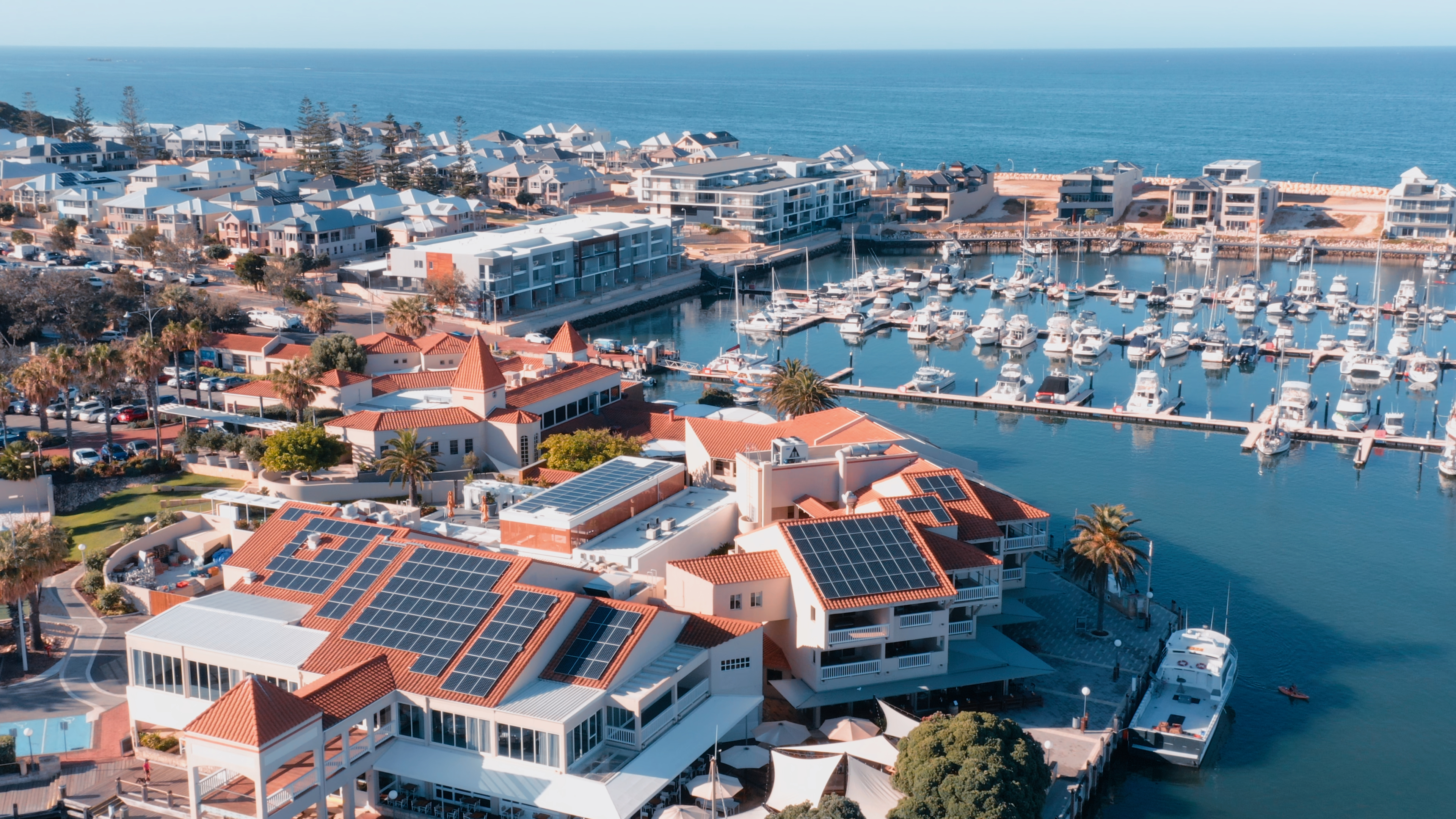 Mindarie Marina Drone Image Perth Western Australia Commercial Property Drone Videos